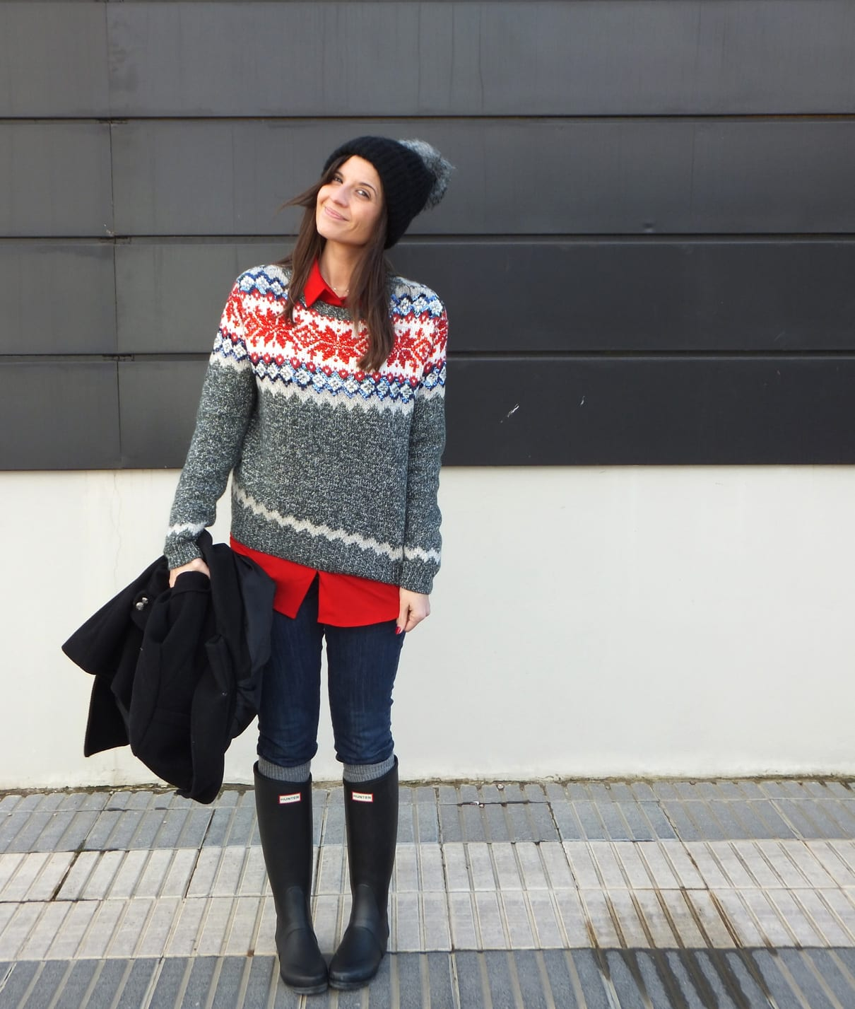 bloggeras de moda con botas hunter