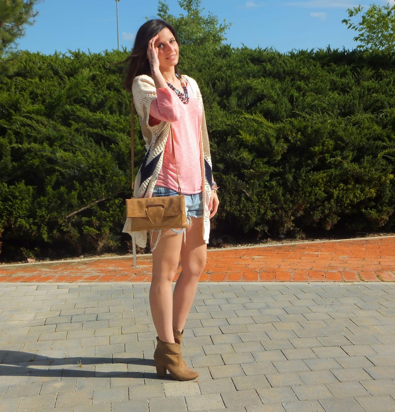 fashion blogger con look boho chic