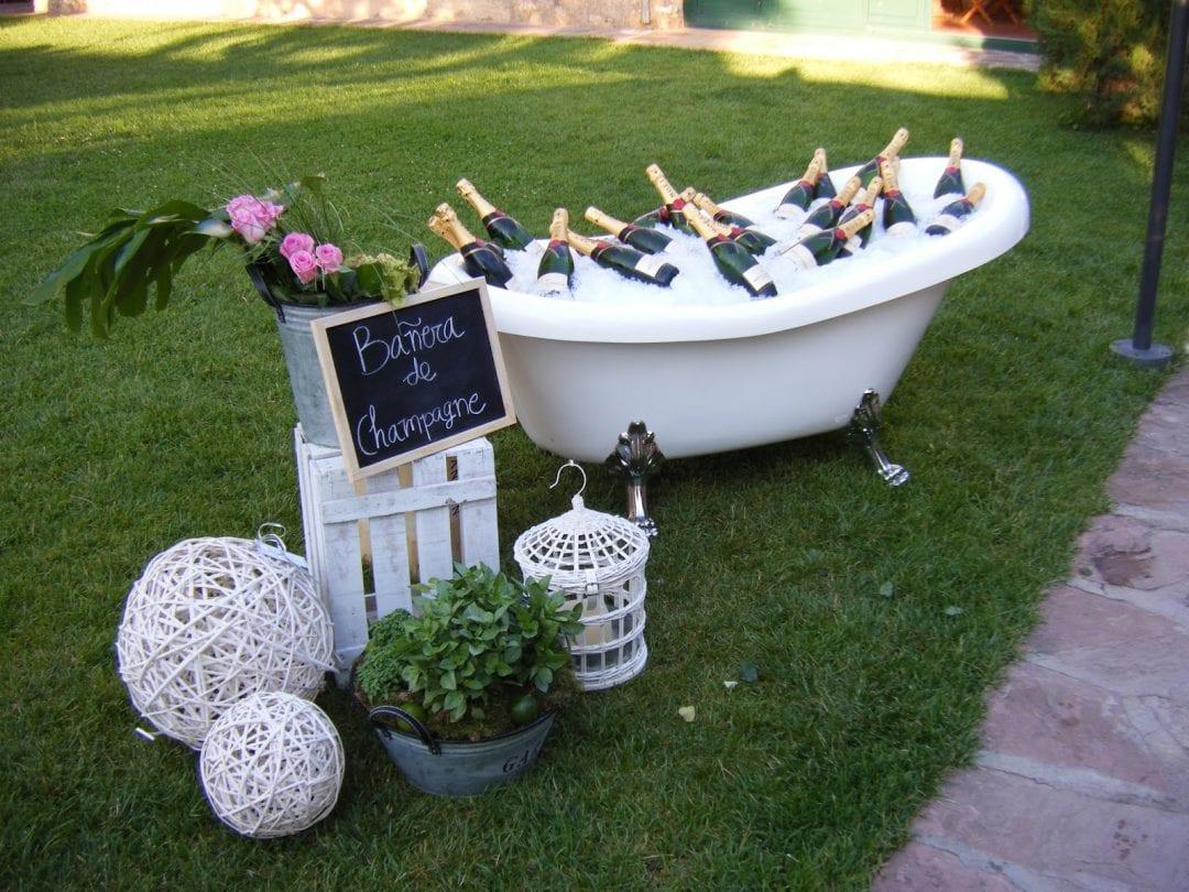 bañera clásica para bodas