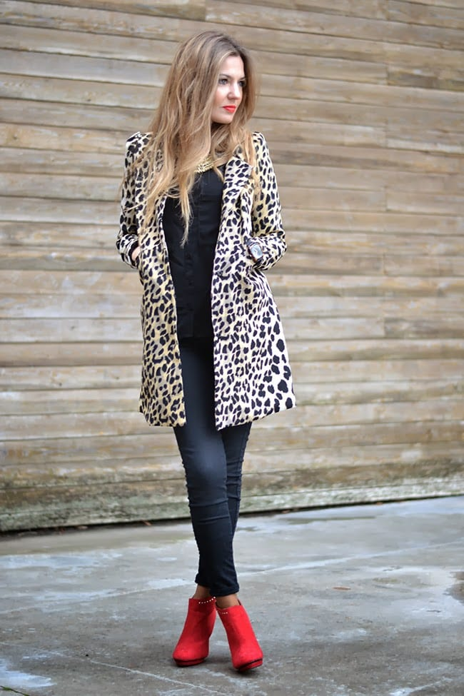 animal print coat -abrigo leopardo