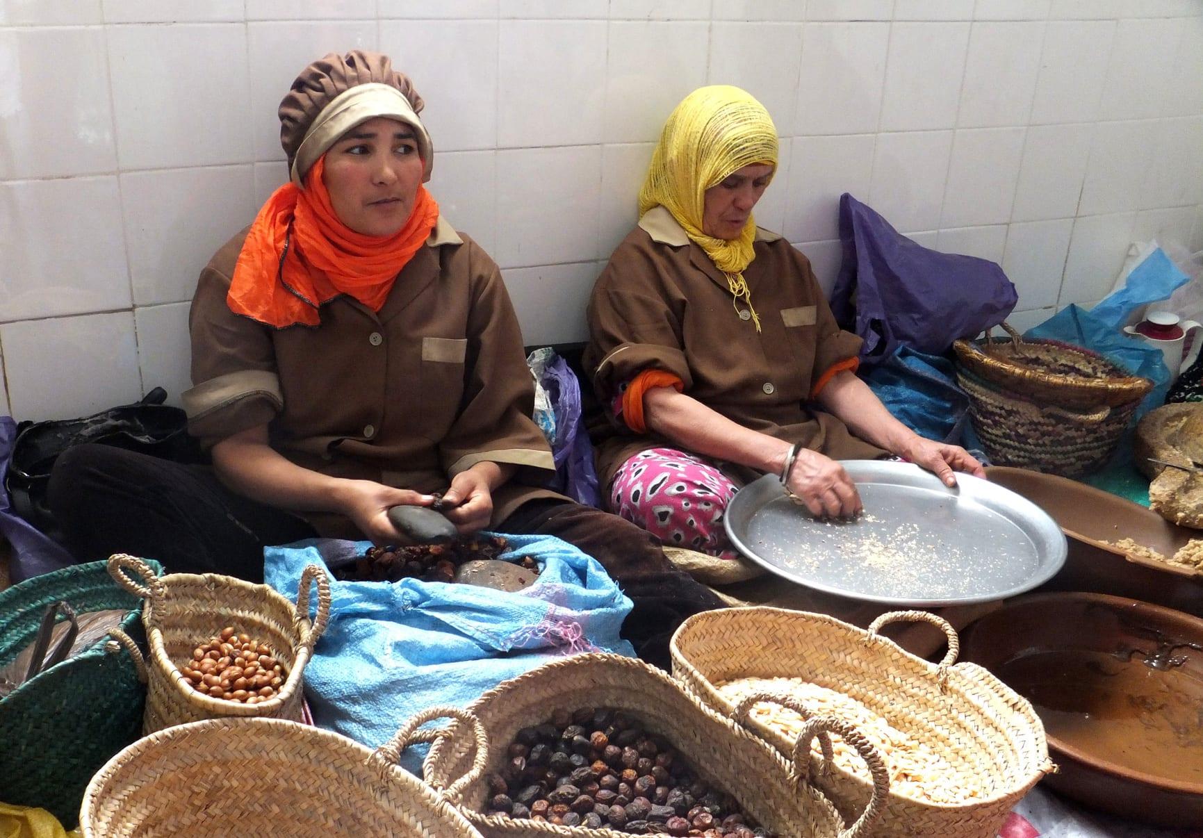 proceso de elaboración aceite de argan