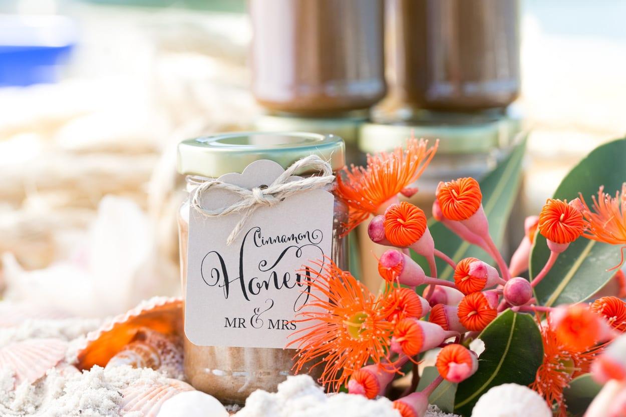 detalles de boda miel y mermelada