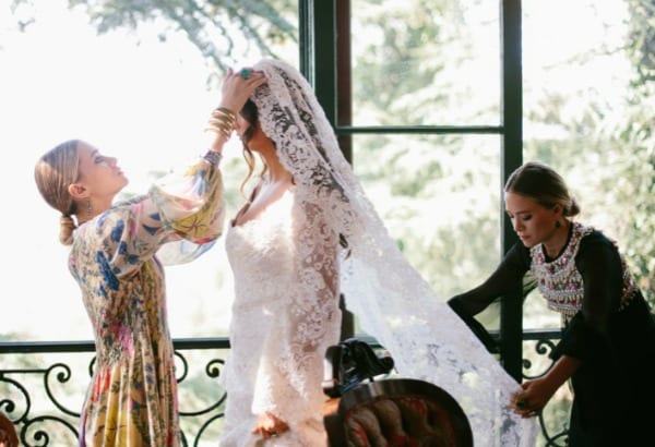 primer vestido de novia hermanas olsen