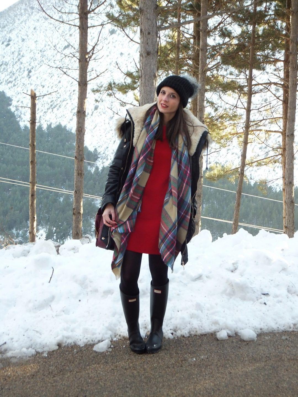 blogueras de moda con botas hunter