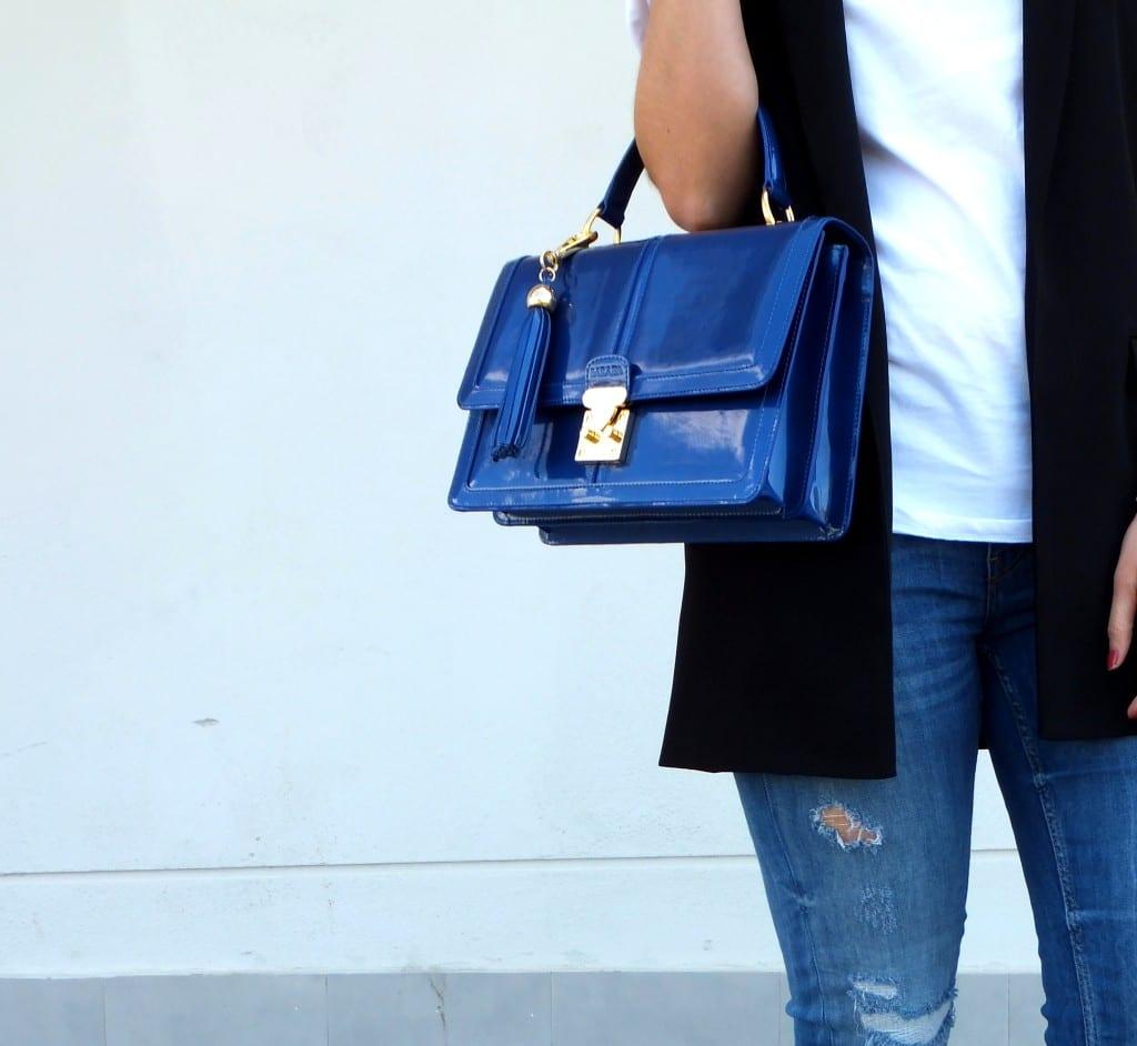 bolso de mano azul - barada luxury - bolsos de piel ubrique (36)