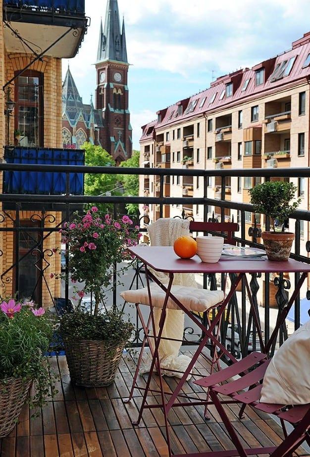 decoracion mesas terraza desayuno