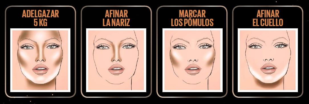 como adelgazar la cara con maquillaje paso a paso