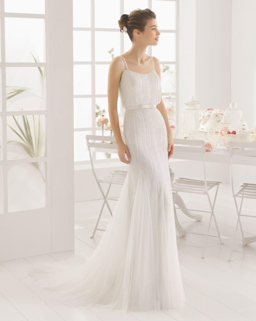 Vestido novia Aire Barcelona colección 2016