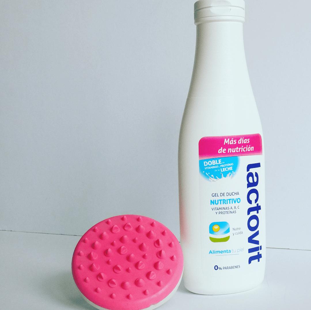 bote lactovit gel ducha nutritivo y masajeador rosa Sephora