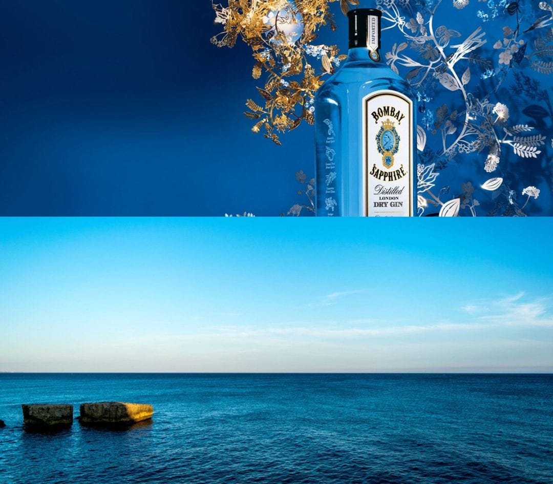 bombay sapphire botella azul