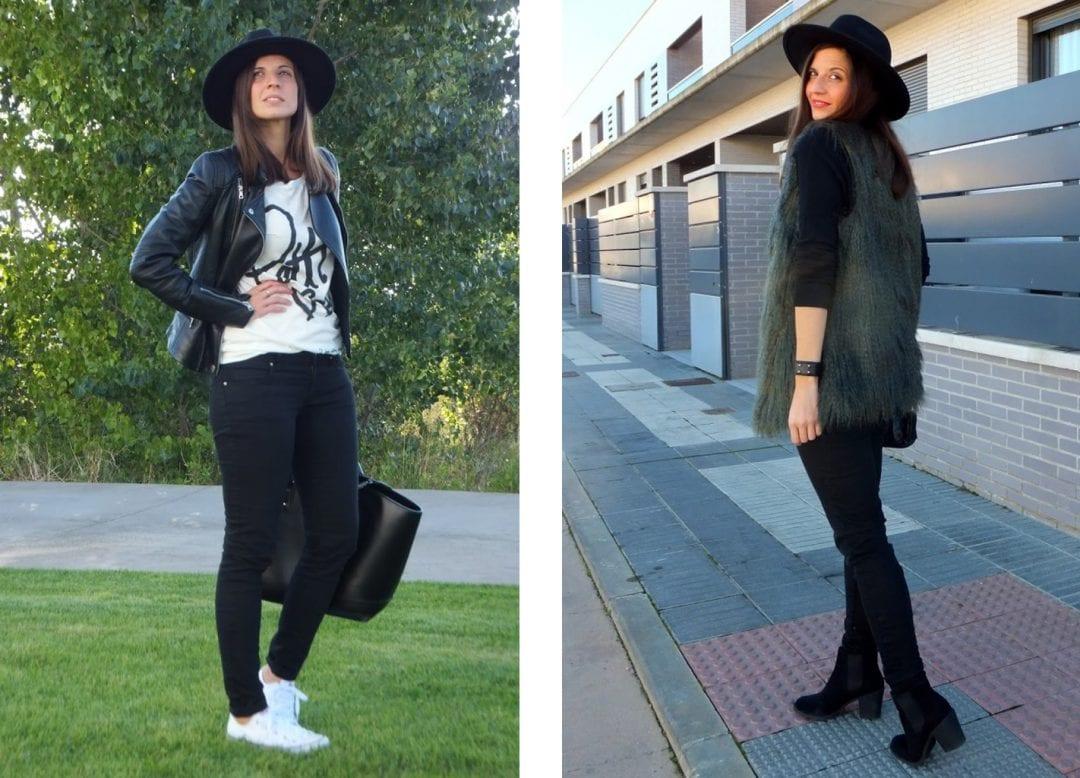 blogger de moda combinando sombreros para mujer