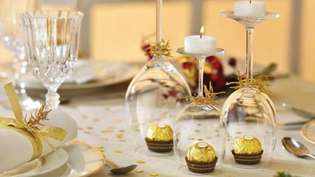 decorar mesa ferrero rocher