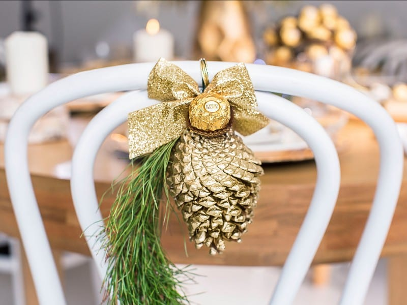 decoración con Ferrero Rocher