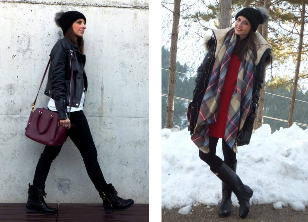 blogger de moda combinando sombreros de mujer