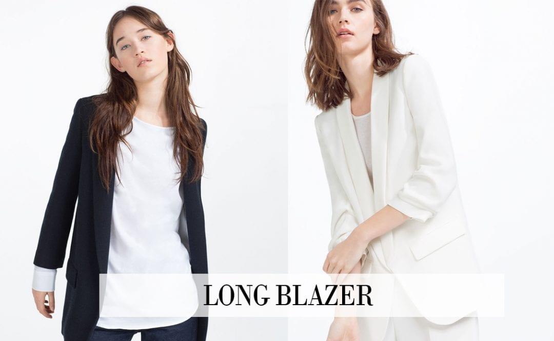 tendencias primavera verano 2016 LONG BLAZER