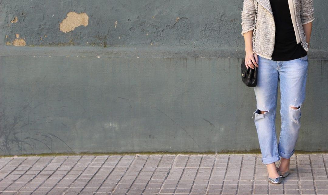 zapatos plateados de zara