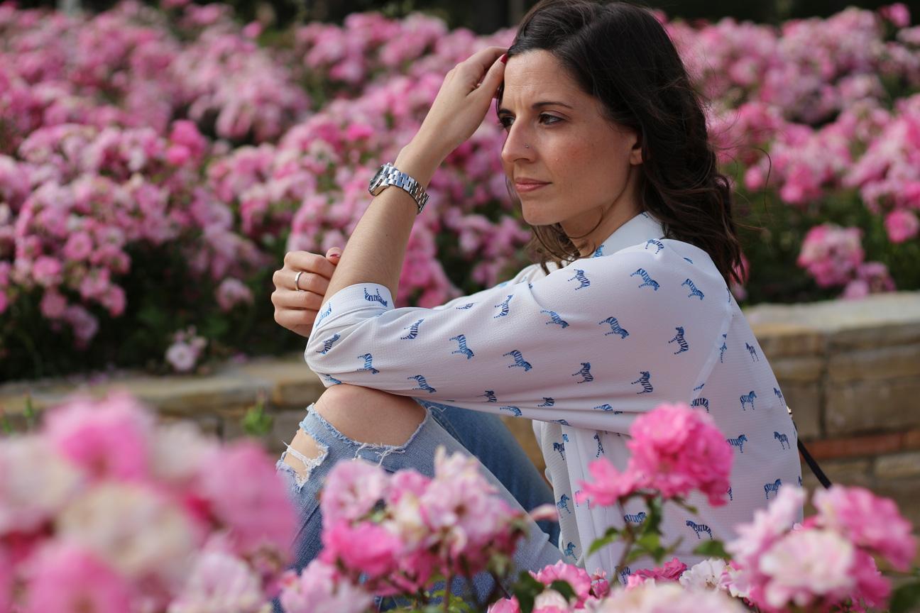 fashion blogger española con look casual