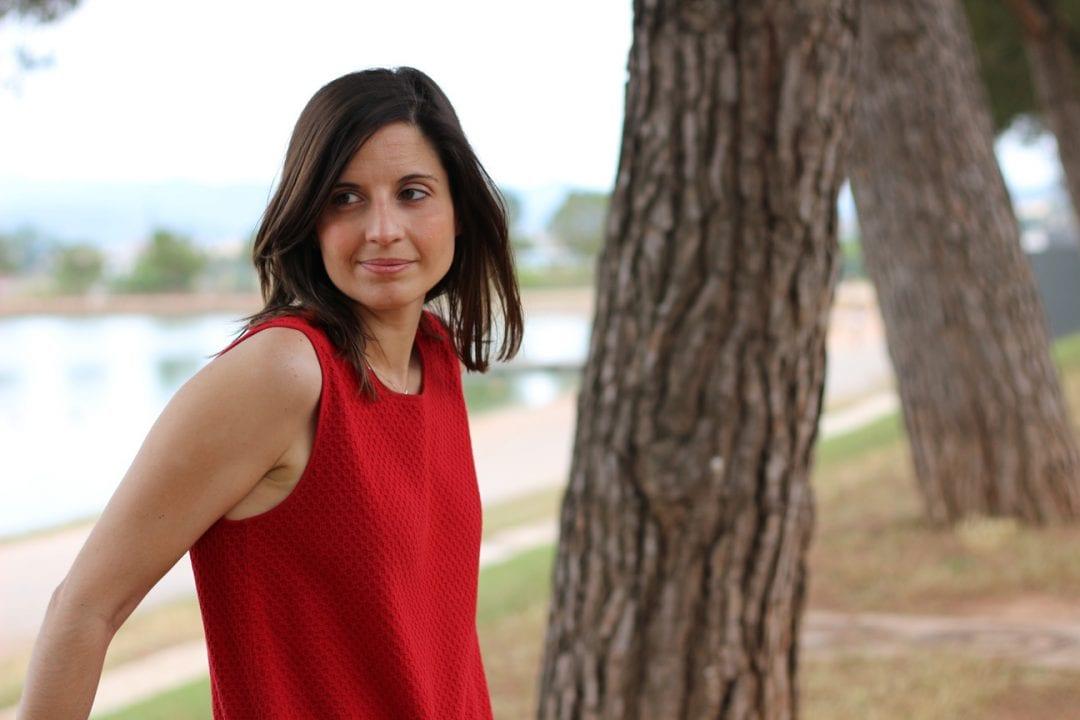 fashion blogger vestido rojo
