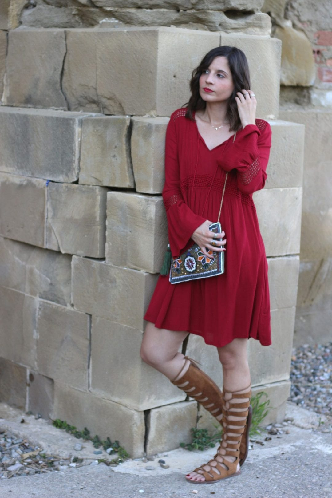 fashion blogger - easy wear - hippie chic - red dress - blog de moda