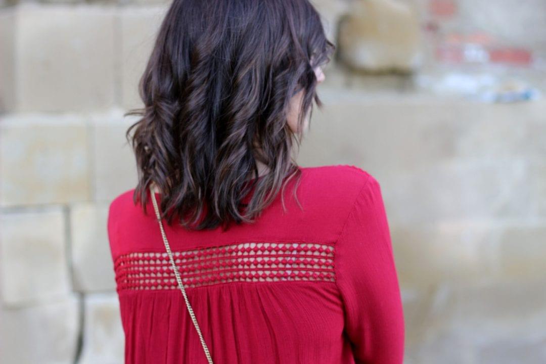fashion blogger - easy wear - hippie chic - red dress - blog de moda
