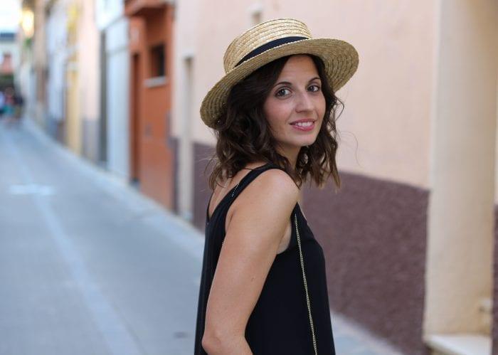 fashion blogger sombrero canotier gondolero