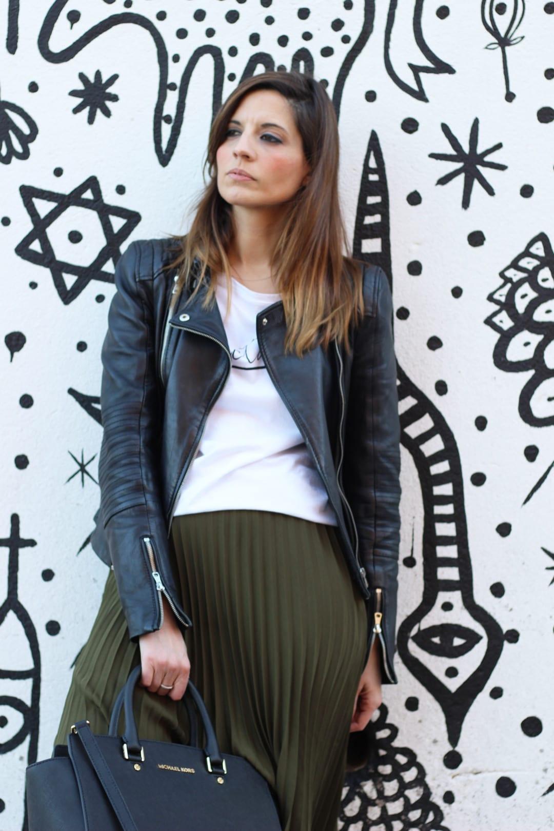 faldas plisadas look blogger