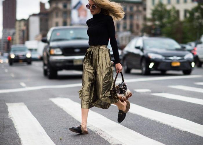 zapatos de moda 2017 - flat mules Gucci outfits