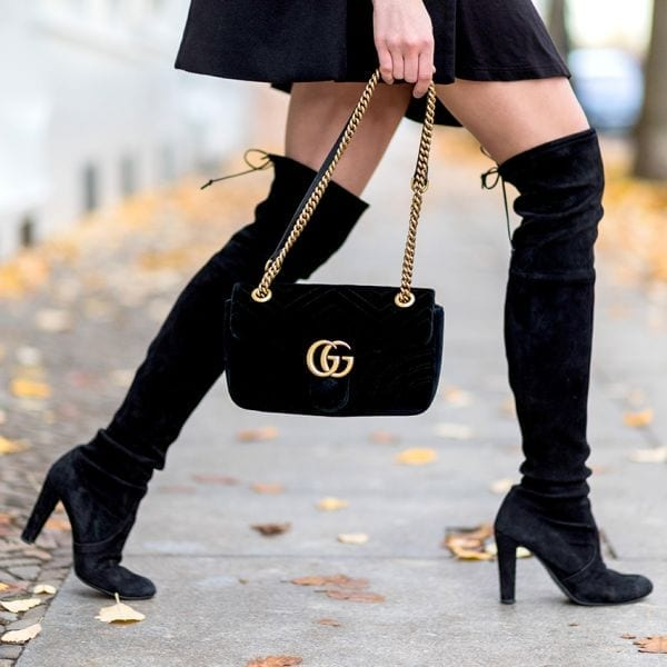 como combinar botas altas over the knee boots
