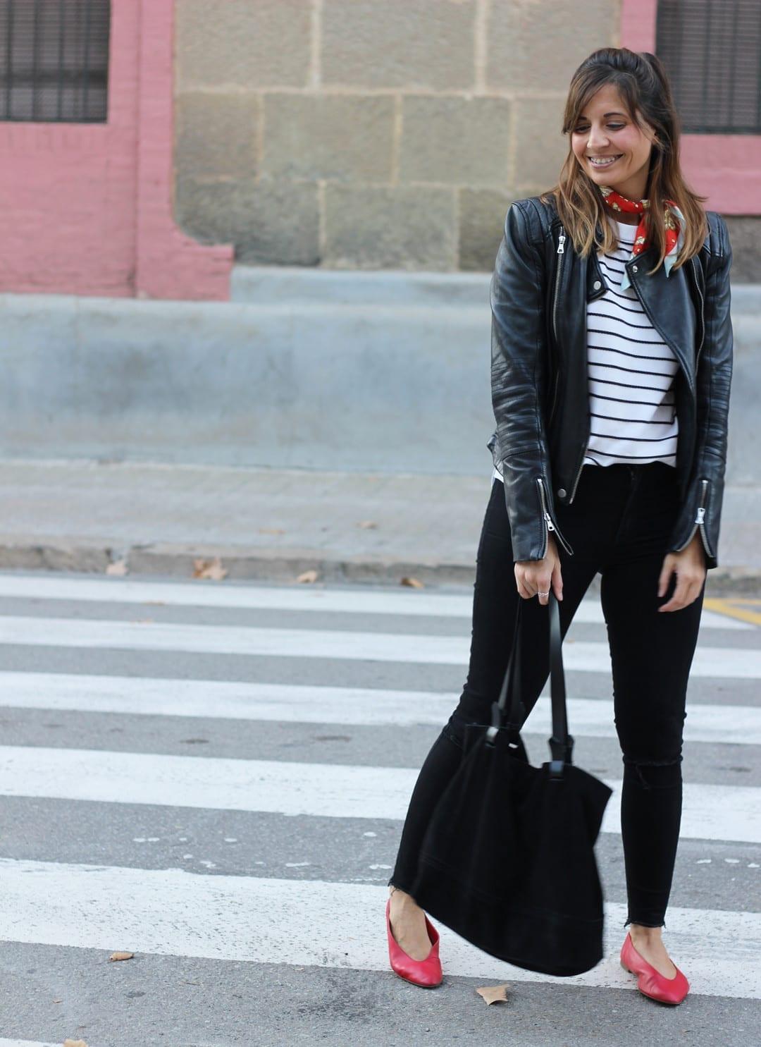 combinar bailarinas rojas zara blog moda