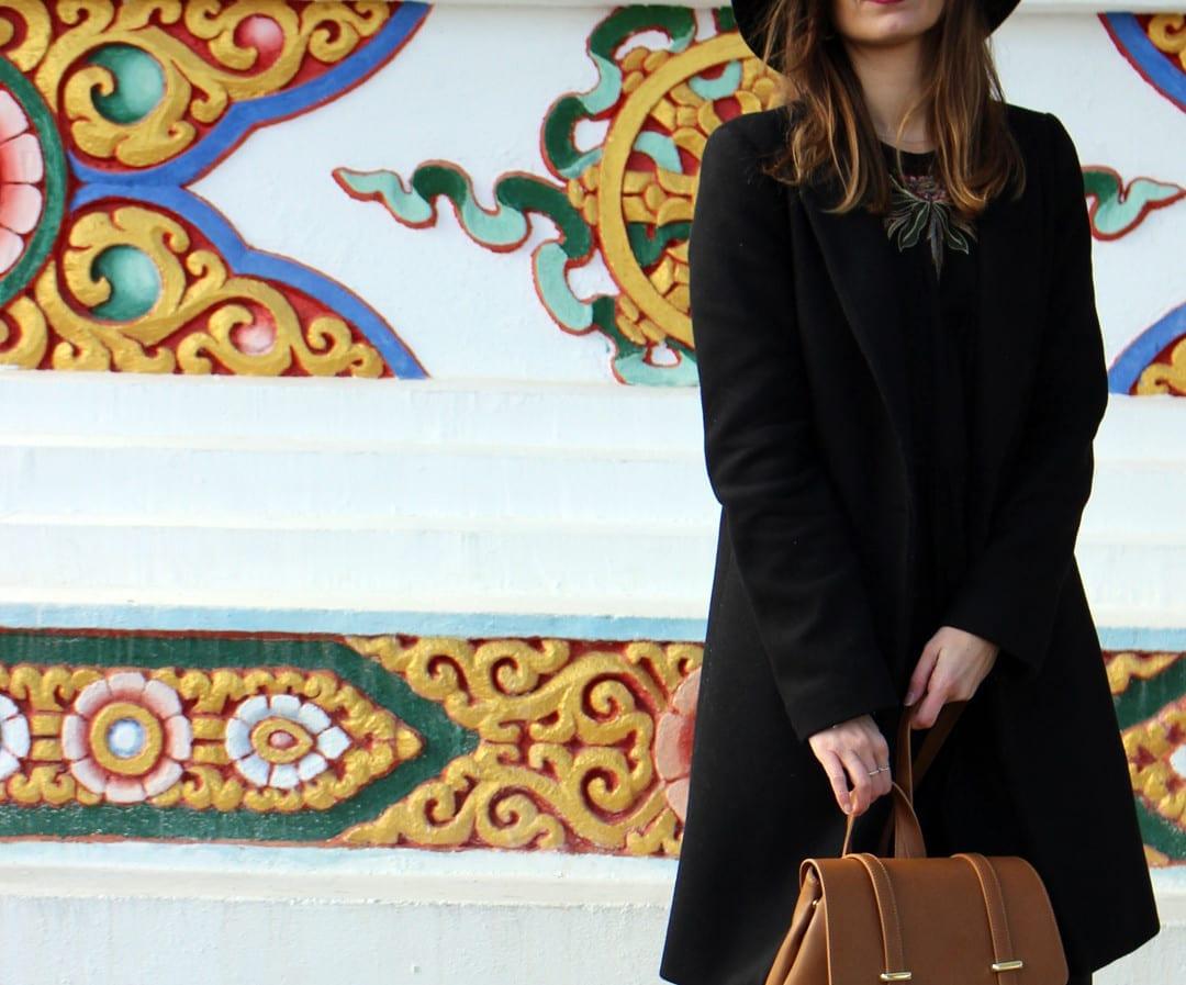 bloguera moda look mochila de piel marrón
