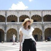 bloguera moda santo domingo blusa zara pantalón culotte sombrero fedora paja asos