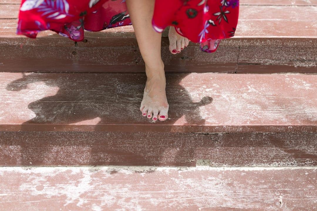 blogger moda española outfit de playa falda roja Isla Saona Republica Dominicana