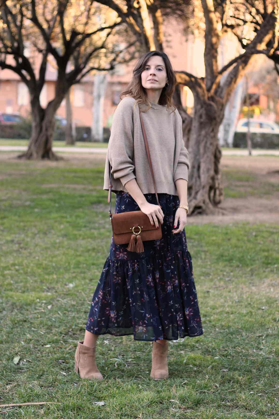 vestidos largos de flores marca polin et moi - fashion blogger