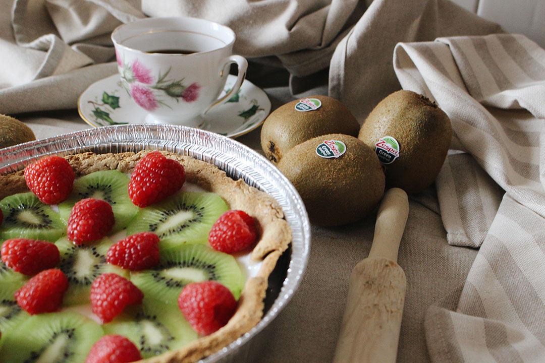 receta fitness - tarta de queso -kiwi Zespri - frutos rojos