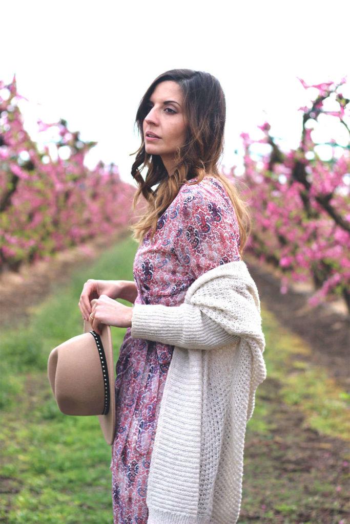 Aitona melocotoneros en flor bloguera de moda