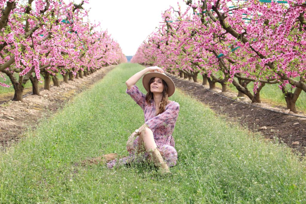 Aitona melocotoneros en flor bloguera de moda (6)