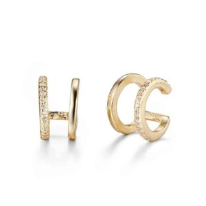 ear cuff oro y circonitas Hotei