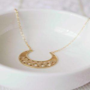 Collar Beirut plata chapado en oro