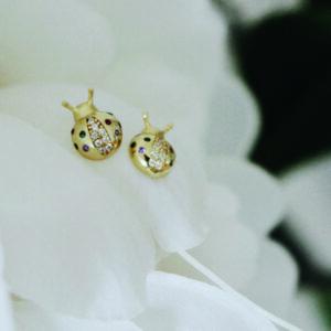 pendientes mariquita ladybug